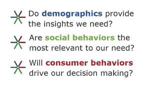 demographics, social behavior, consumer beghavior